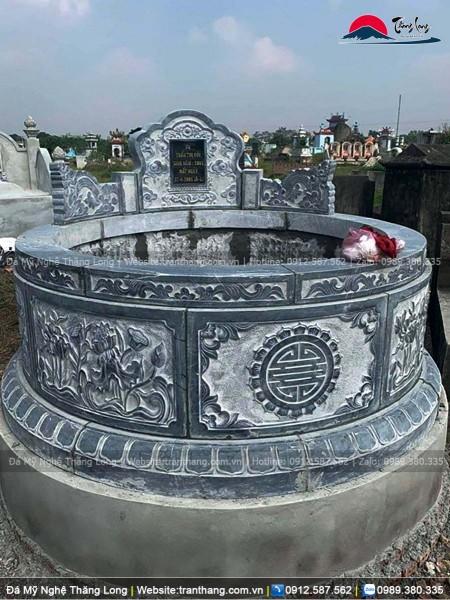 Mẫu mộ đá tròn kích cỡ trung bình