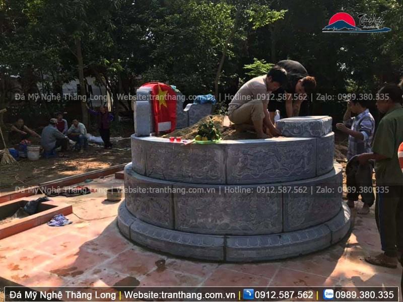 Mộ tròn bằng đá xanh tại thủ đô Hà Nội