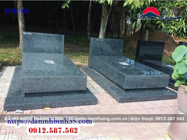 Mẫu mộ ốp đá granite Phú Yên đẹp