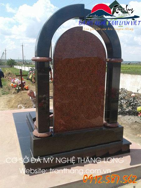 Mẫu mộ đá hoa cương granite đỏ ruby