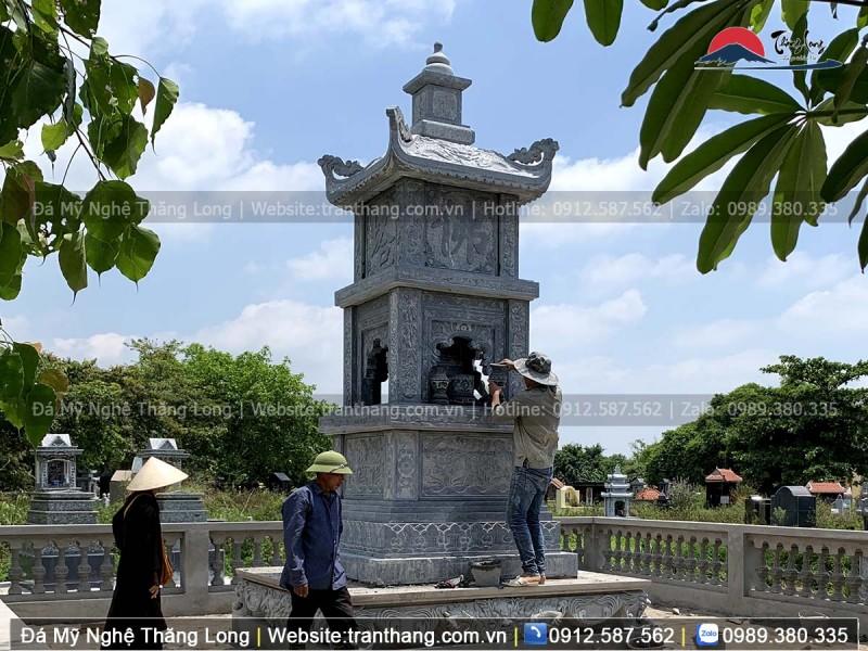 Tháp cất tro cốt sư tại chùa