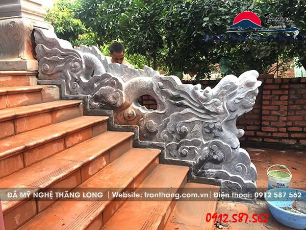 Mẫu rồng đá được đặt tại gia đình chú nam tỉnh Bắc Ninh.