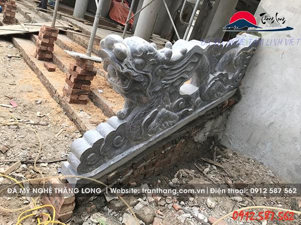 Lắp đặt tượng linh vật tại huyện Quốc Oai - Hà Nội