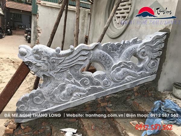 Lắp đặt rồng đá tại huyện Quốc Oai - Hà Nội
