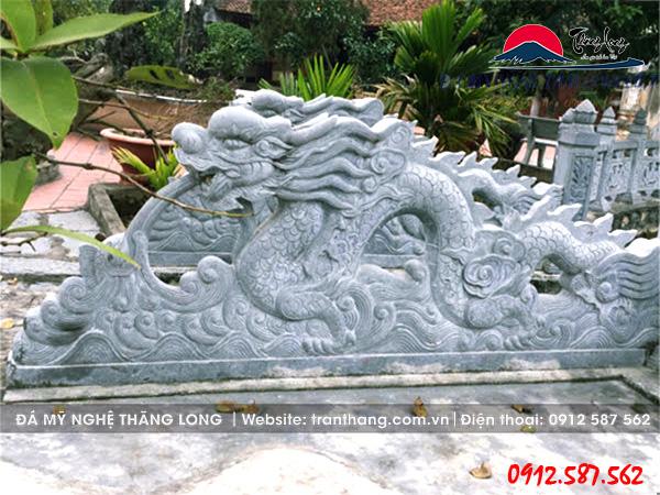 Mẫu rồng đá Long Quấn Thủy đẹp hút hồn.