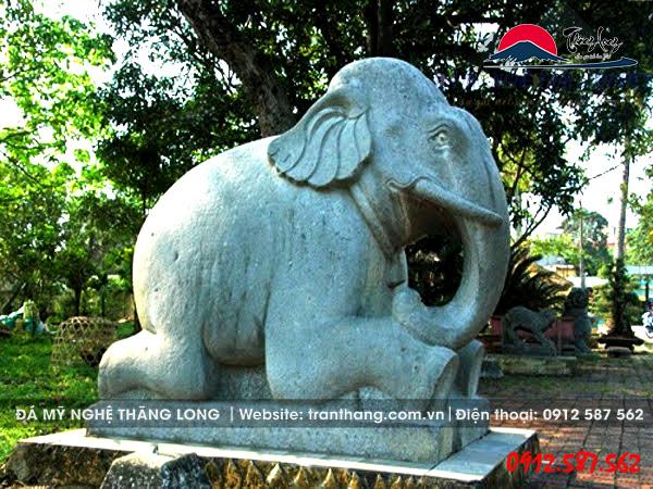 tượng voi đá | linh vật đá canh giữ đất đai