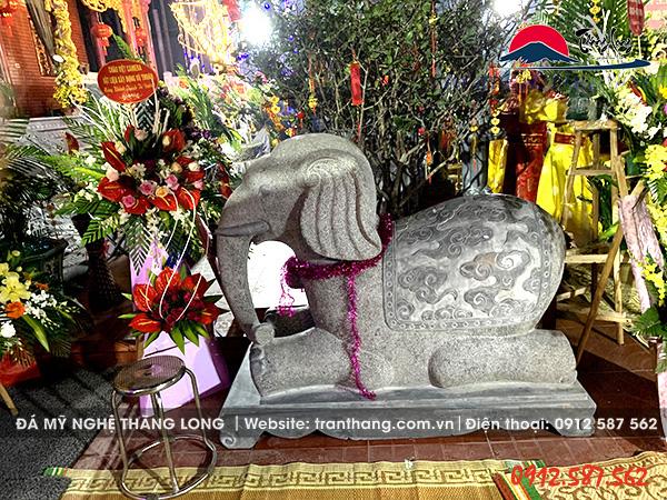 tượng voi đá phong thủy linh vật đá