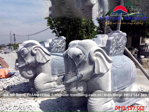 voi đá phong thủy sản xuất tại Ninh Bình